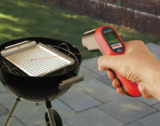 Laser infrared surface thermometer u2013 Help dad take the guesswork out Maverick LT-02 Laser Infrared Surface Thermometer & Grill Accessories Make Great Gifts for Dad - DIYControls Blog