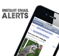 Receive email alerts of activity at your home
