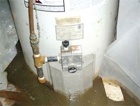 Water heater leaks